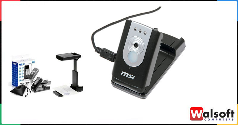MSI STARCAM FLIP WEB CAMERA WITH BUSINESS CARD RECOGNITION